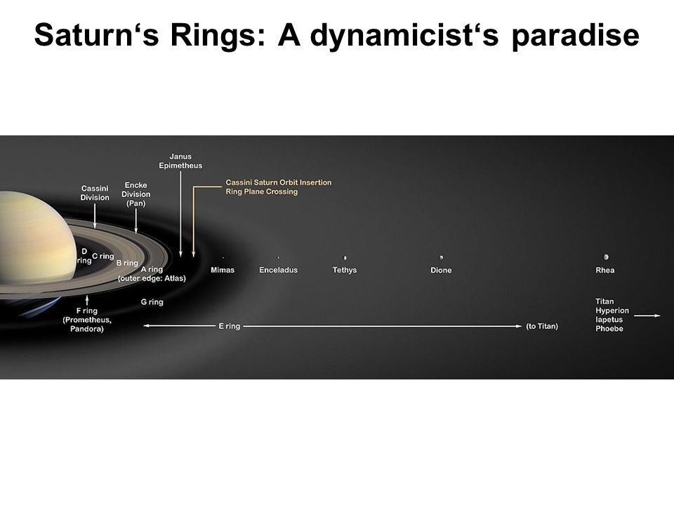 Saturns Rings: A dynamicists paradise