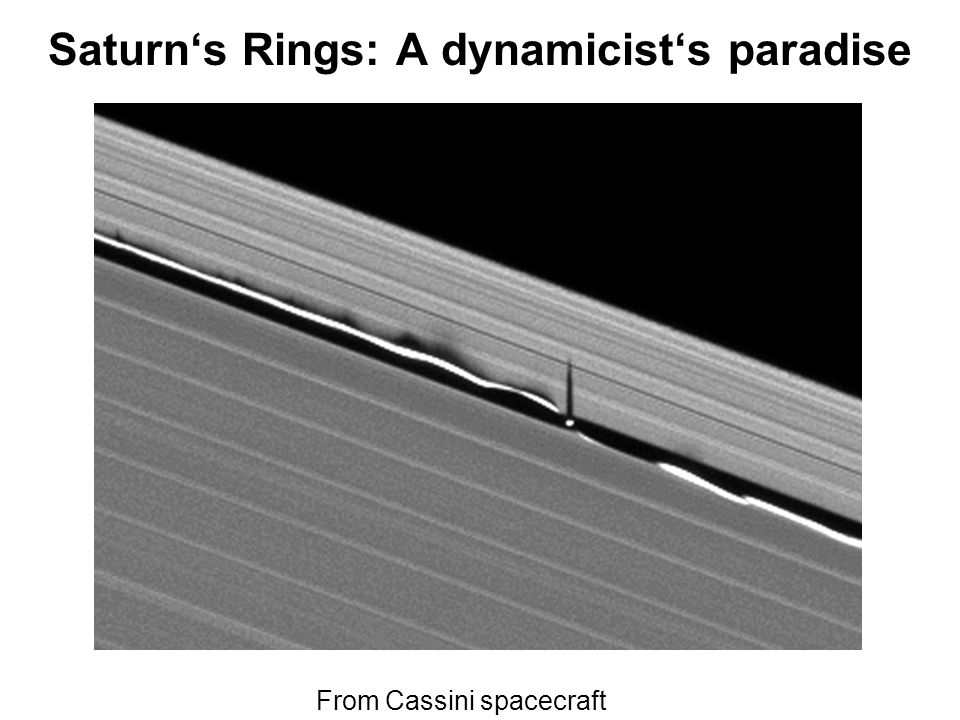 Saturns Rings: A dynamicists paradise From Cassini spacecraft