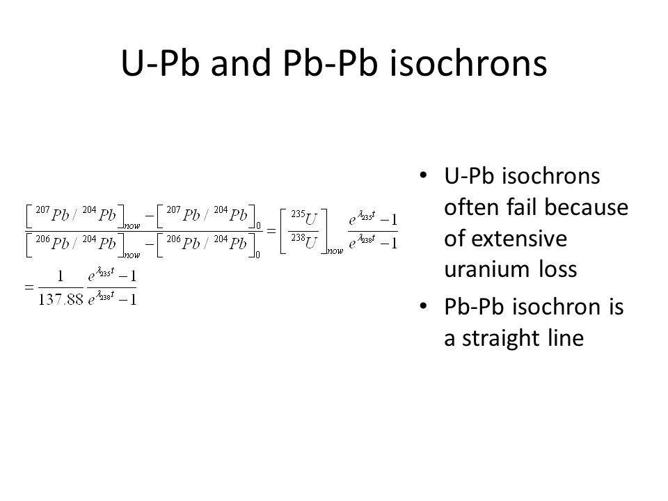 Th-Pb The Th-Pb system can be more successful than U-Pb isochrons because thorium and lead tend to be less mobile than uranium