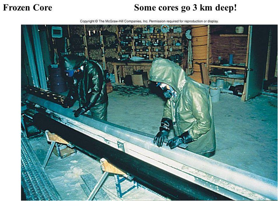 Frozen Core Some cores go 3 km deep!