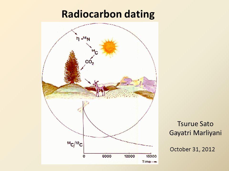 Radiocarbon dating Tsurue Sato Gayatri Marliyani October 31, 2012