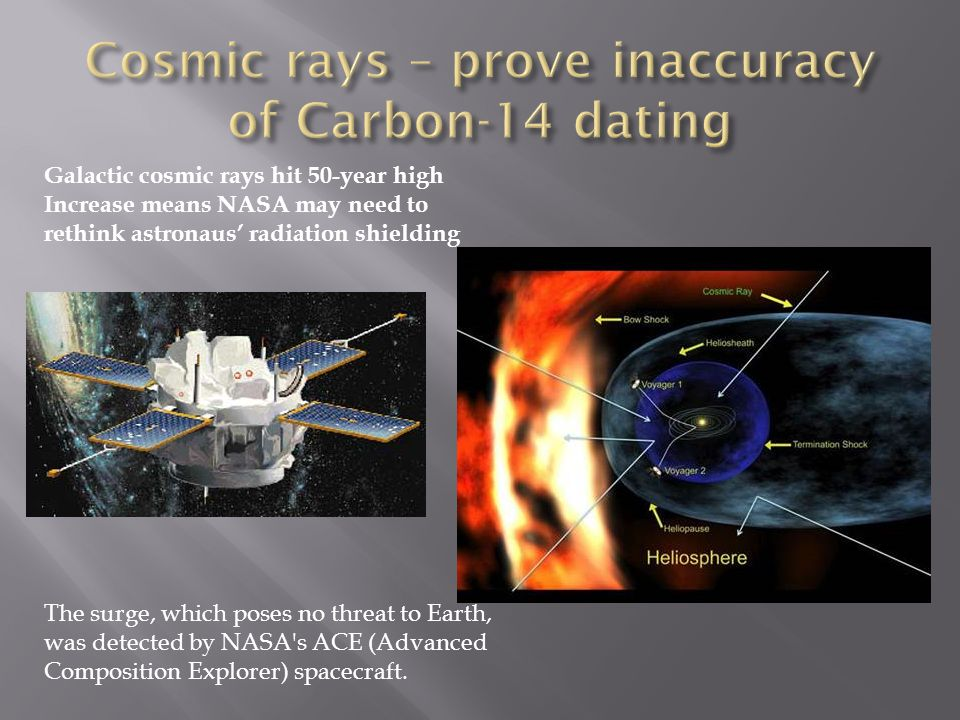 Galactic cosmic rays hit 50-year high Increase means NASA may need to rethink astronaus radiation shielding The surge, which poses no threat to Earth, was detected by NASA s ACE (Advanced Composition Explorer) spacecraft.