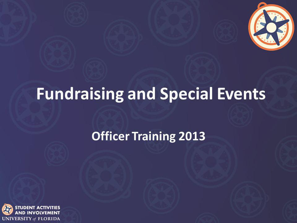 Fundraising and Special Events Officer Training 2013