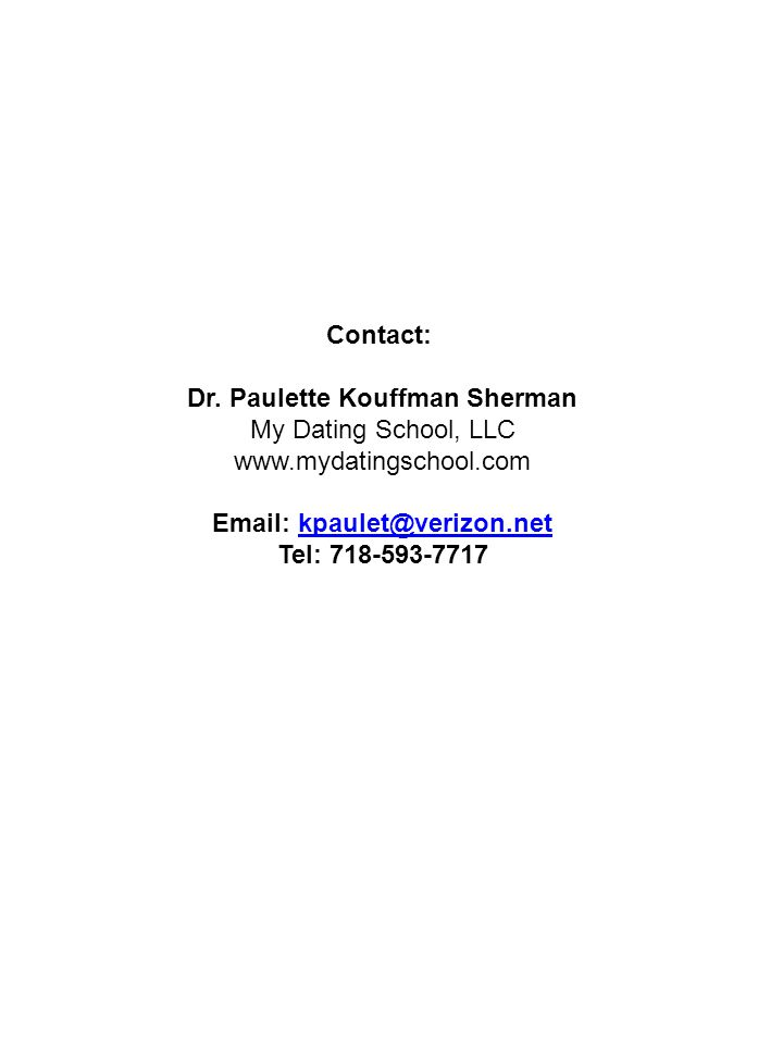 Contact: Dr.