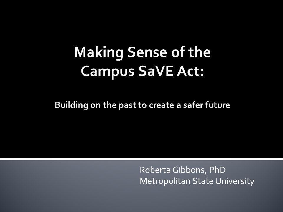 Roberta Gibbons, PhD Metropolitan State University