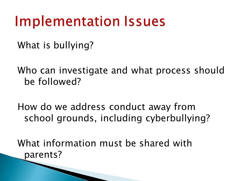 What is bullying. Who can investigate and what process should be followed.