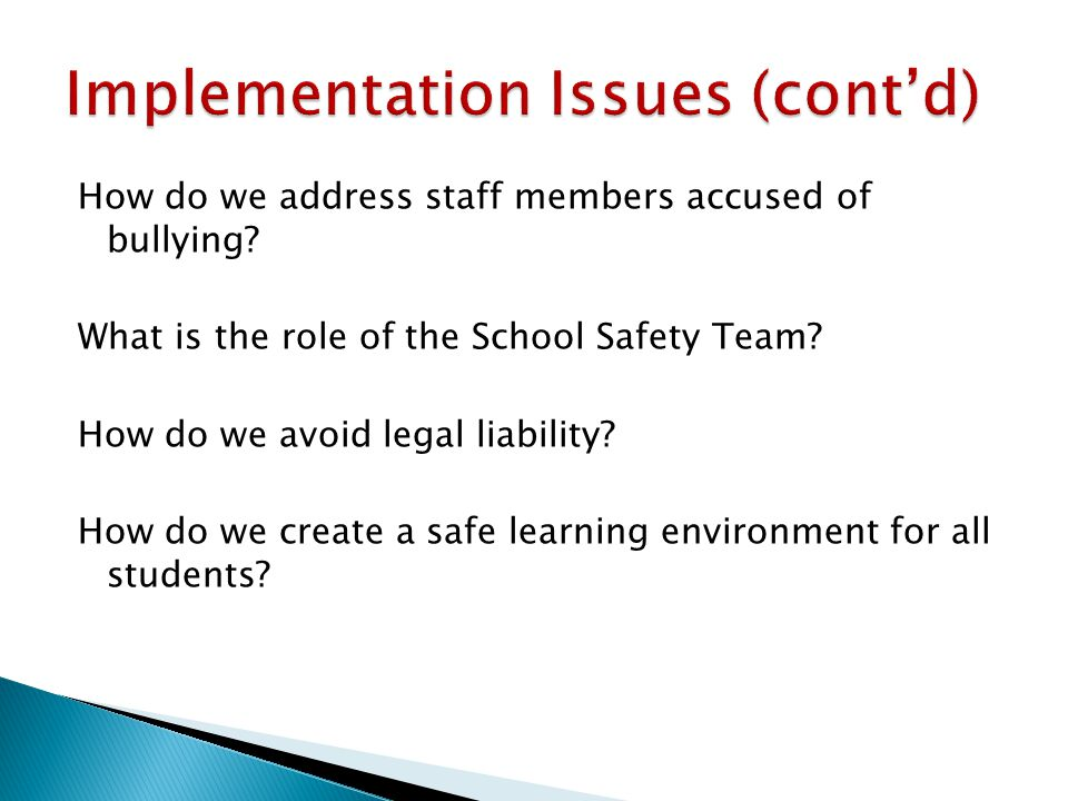 How do we address staff members accused of bullying.