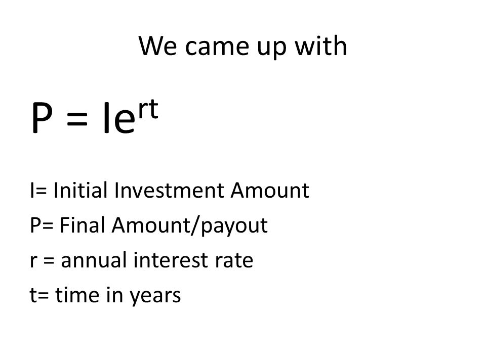 Initial Value: $ 2,300 Question: The value in 1 year, 2 years, 3 years…, t years.