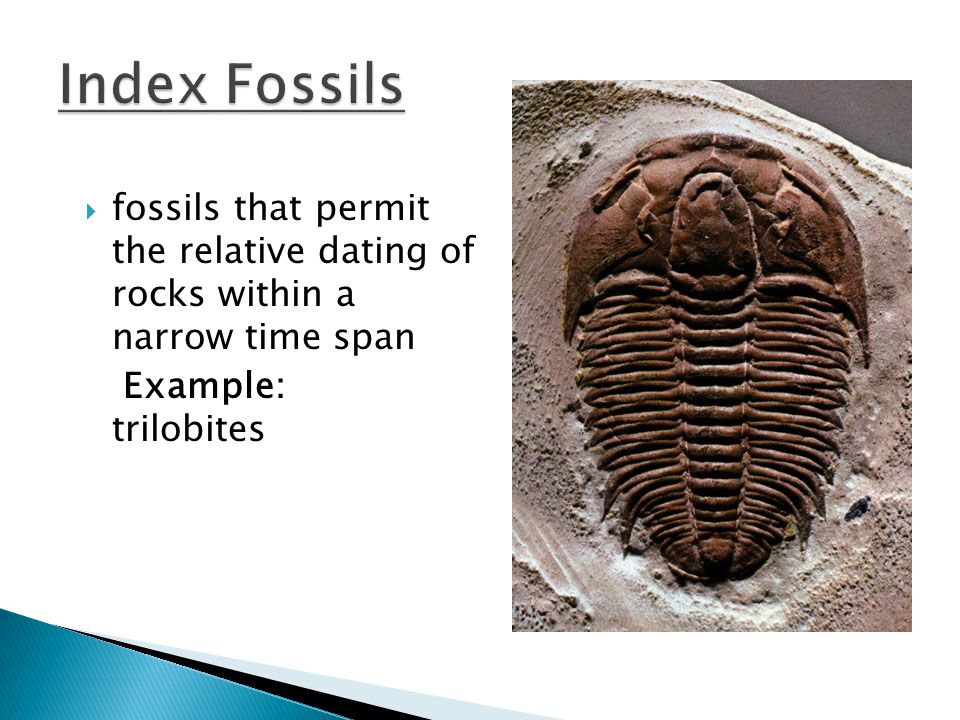 relative dating is a method of determining the order in which events occurred; does not give the precise age of a fossil.