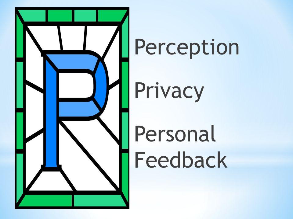 Perception Privacy Personal Feedback