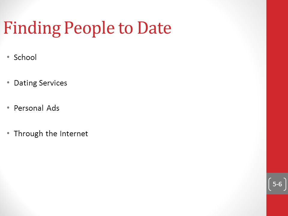 5-6 Finding People to Date School Dating Services Personal Ads Through the Internet