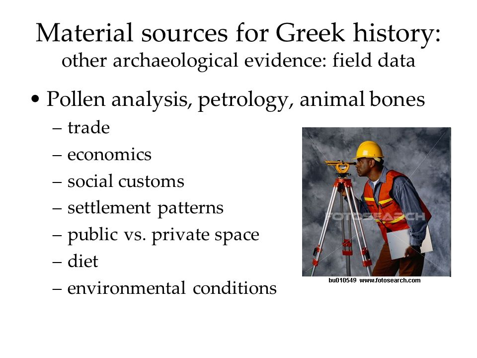 Earliest occupation, 200,000 BCE to Franchthi Cave, 18,000 & beyond Hunters / gatherers Subsistence level Self-sufficiency until interest in other goods Embryonic trade Franchthi in Argolid, Peloponnese