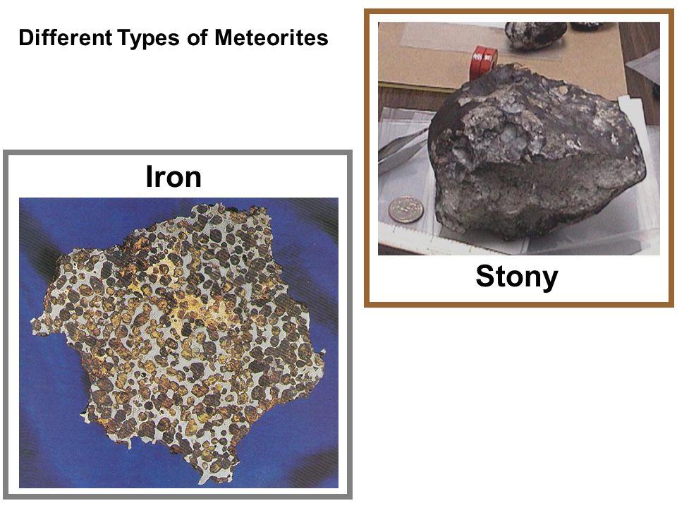Different Types of Meteorites Iron Stony