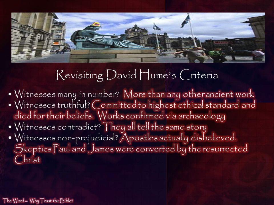 Revisiting David Humes Criteria