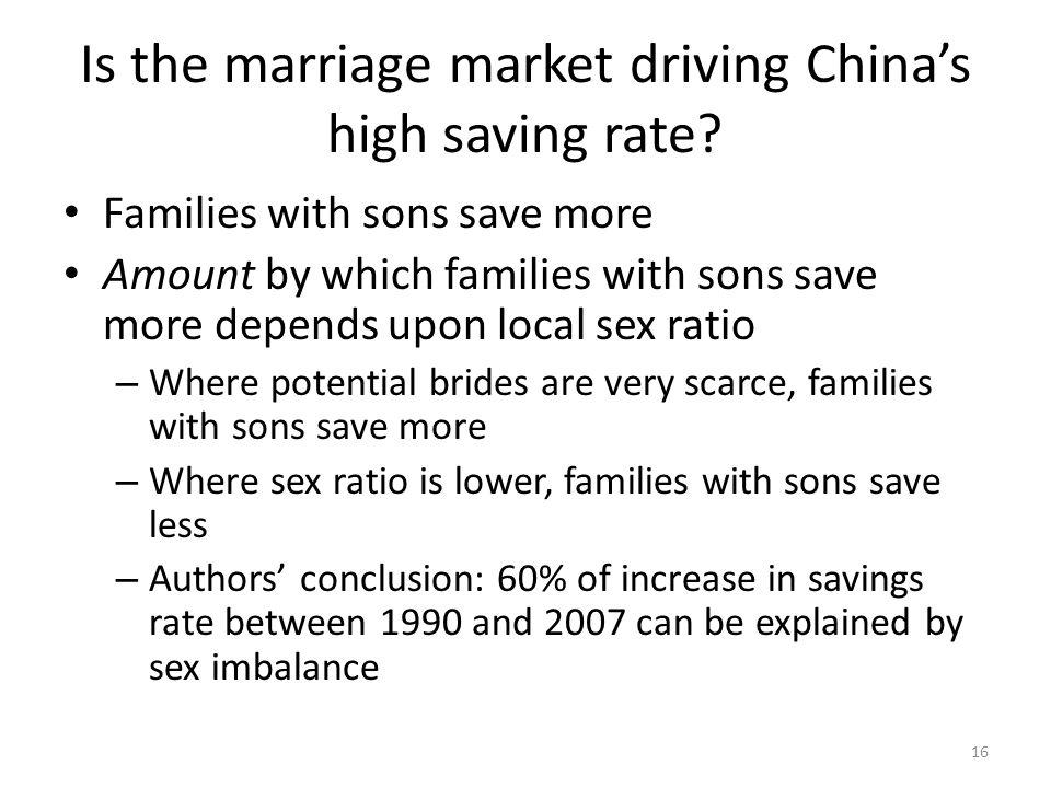 Is the marriage market driving Chinas high saving rate.