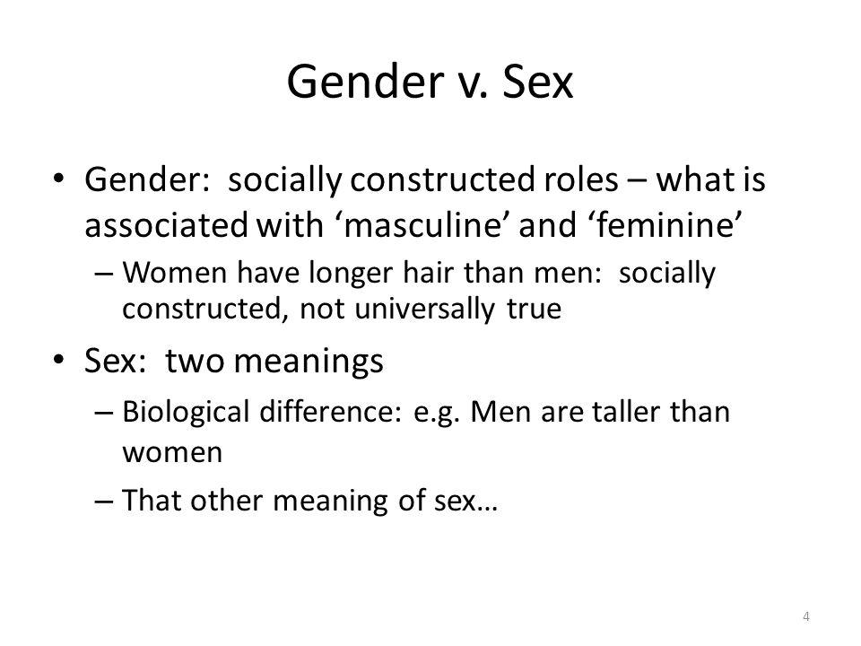 Gender v.