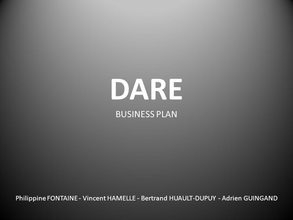 DARE BUSINESS PLAN Philippine FONTAINE - Vincent HAMELLE - Bertrand HUAULT-DUPUY - Adrien GUINGAND