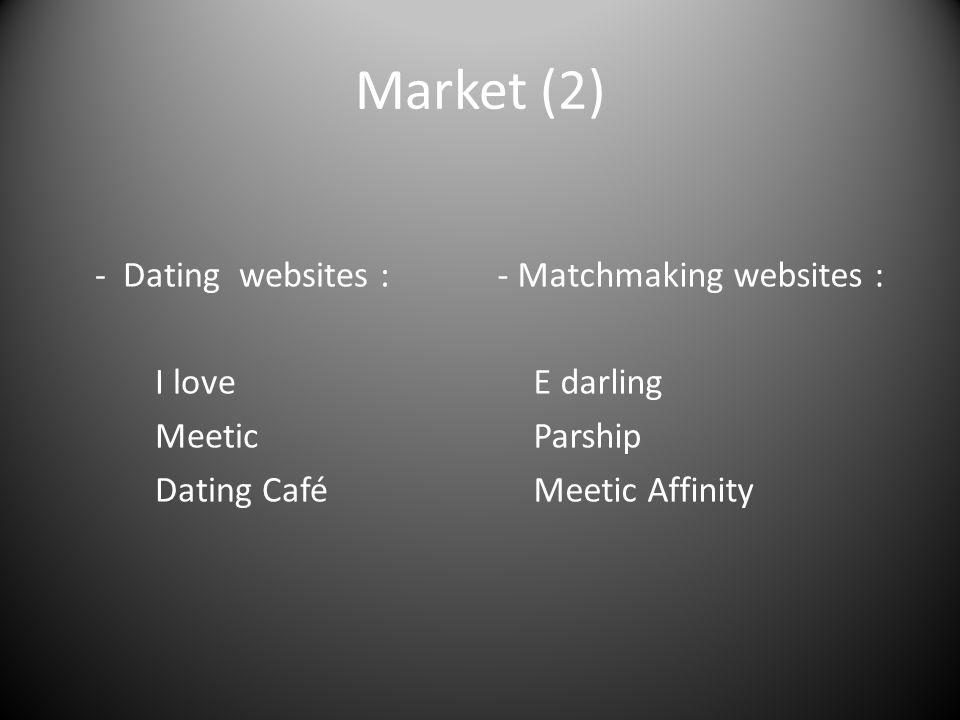 Market (2) - Dating websites : I love Meetic Dating Café - Matchmaking websites : E darling Parship Meetic Affinity