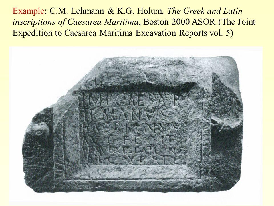 Example: C.M. Lehmann & K.G.