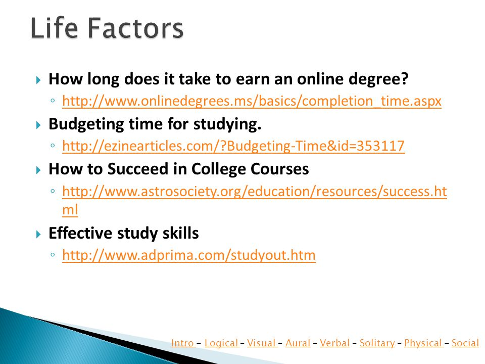 How long does it take to earn an online degree.