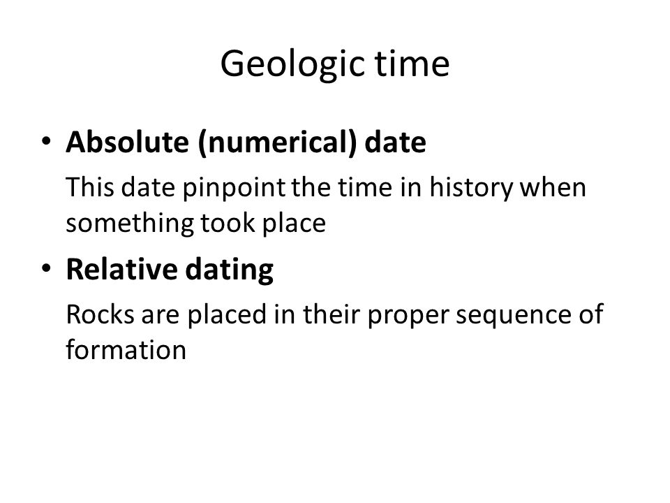 Relative dating Nicolaus Steno (1638-1686) is the founder of relative dating