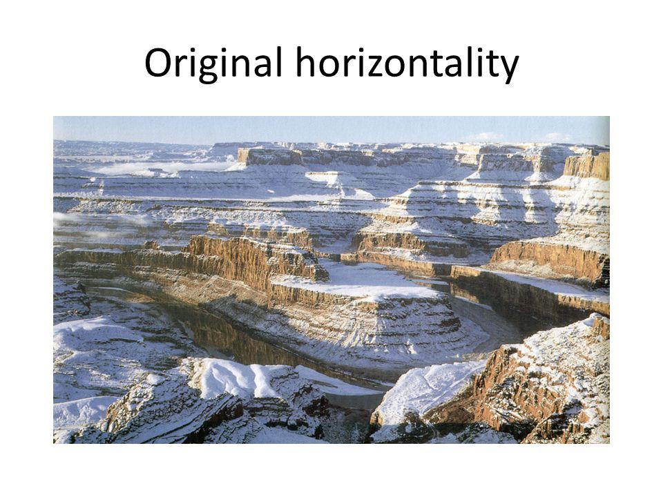 These folded rocks were originally horizontal