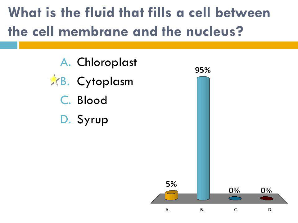 What is the fluid that fills a cell between the cell membrane and the nucleus.