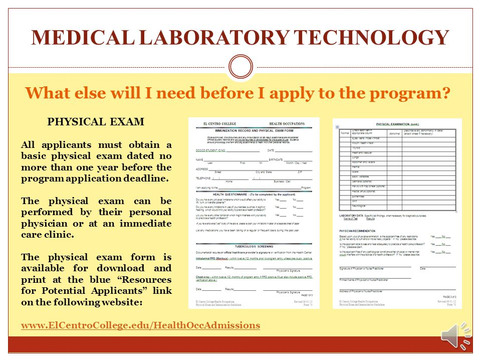 MEDICAL LABORATORY TECHNOLOGY Medical Lab Core Curriculum – Associate Degree * Science courses must be completed less than 5 years before the semester