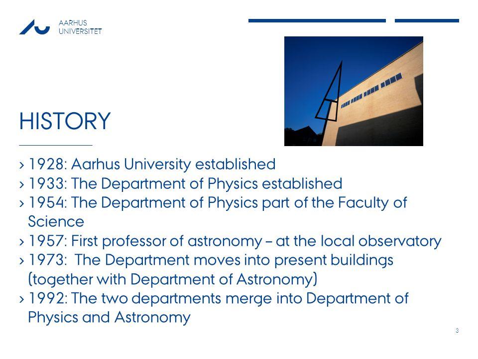 AARHUS UNIVERSITET KEY FIGURES 2009 Aarhus UniversityDepartment of Physics and Astronomy Academic staff582948 Technical/Adm.
