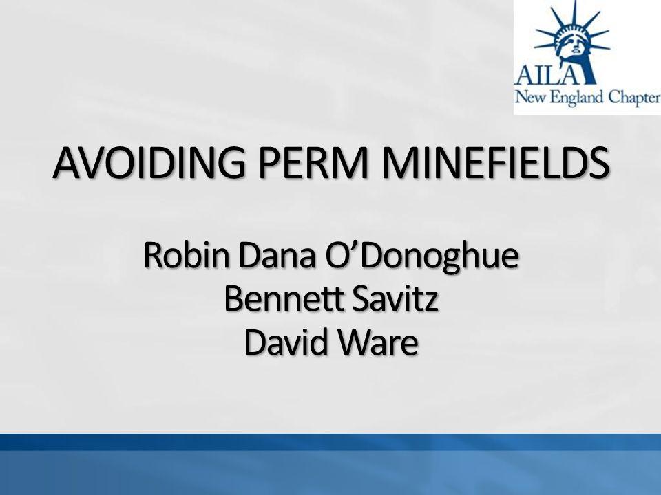 AVOIDING PERM MINEFIELDS Robin Dana ODonoghue Bennett Savitz David Ware