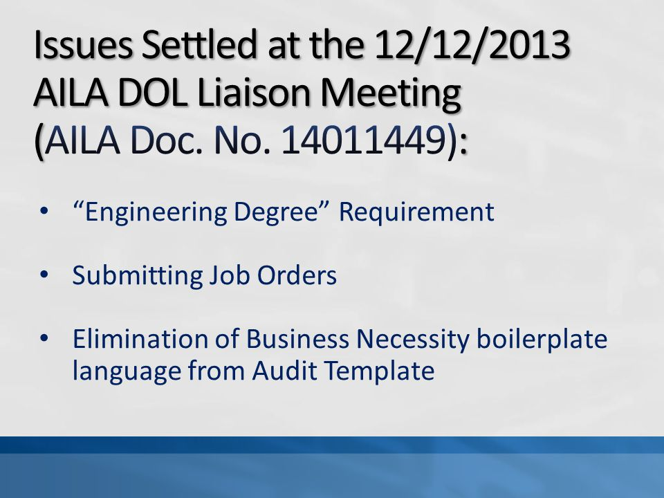 Related Resources – See AILA DOL Liaison Committees 2012 Research Tools Advisory (AILA Doc.