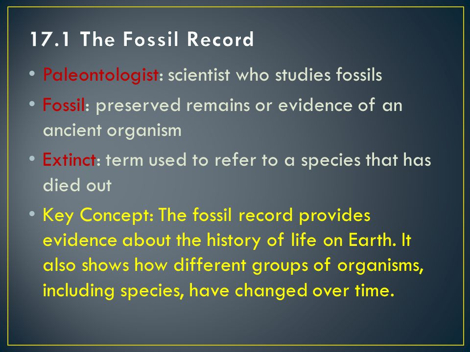 Relative dating: age of a fossil is determined by comparing its placement with that of fossils in other layers of rock Index Fossils: distinct fossils found in certain layers of rock in a wide geographic range (Fig.