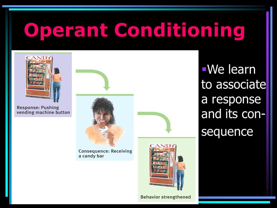 Operant Conditioning Learning associations between actions and consequences