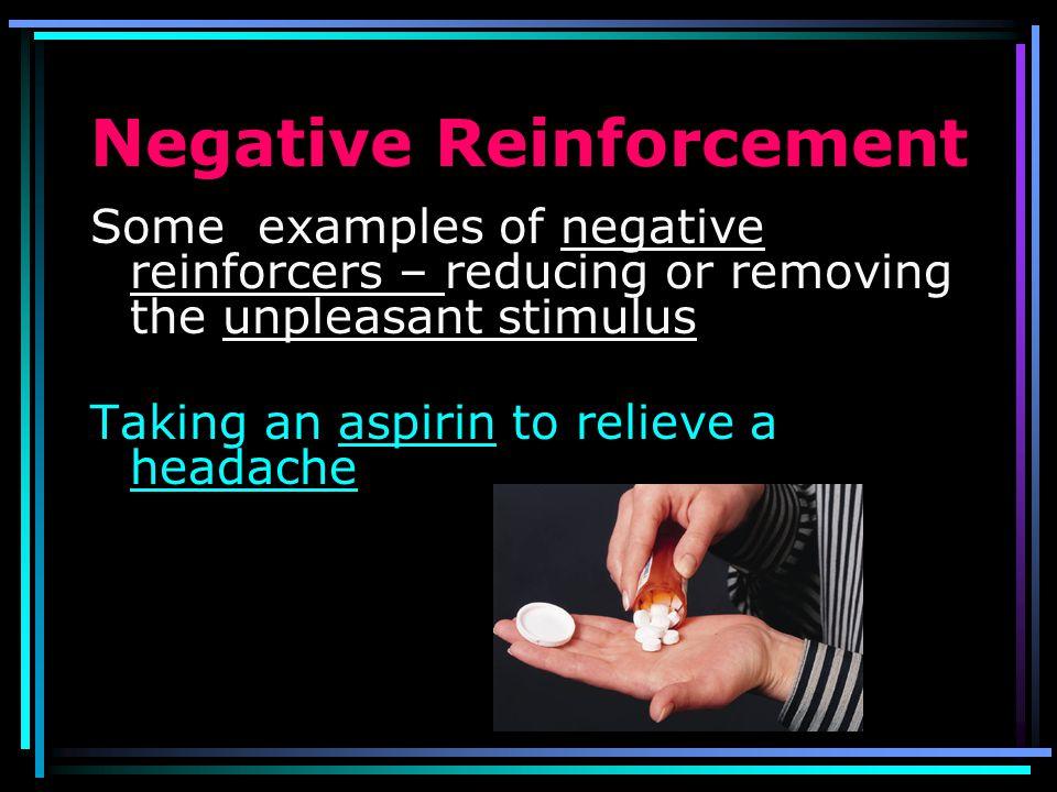 Increases Behavior Decreases Behavior Add Stimulus Positive Reinforcement Positive Punishment Remove stimulus Negative reinforcement Negative Punishme