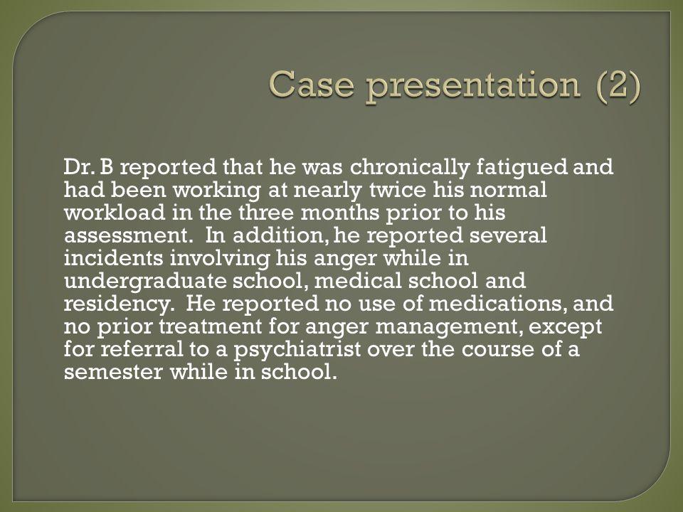 Case presentation (2) Dr.