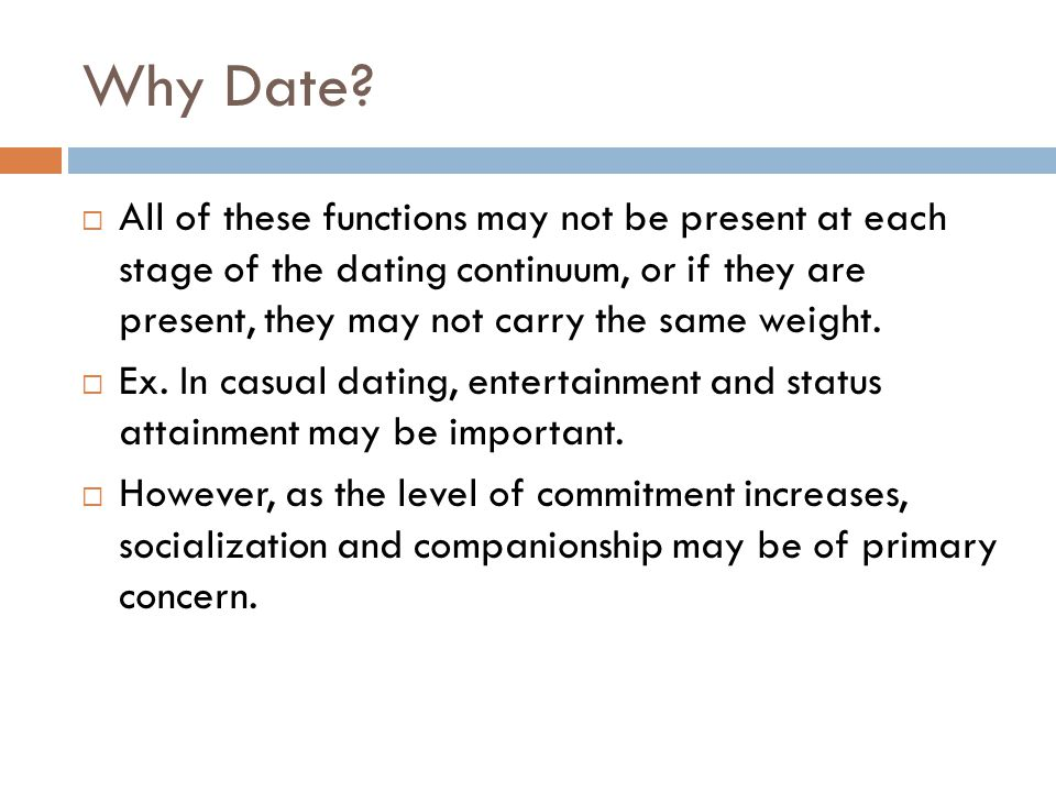 Why Date.