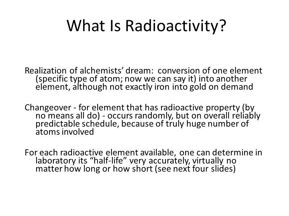 What Is Radioactivity.