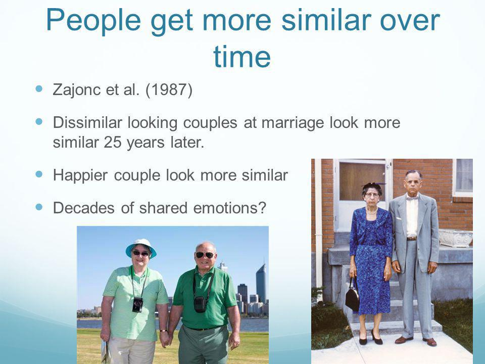 People get more similar over time Zajonc et al.
