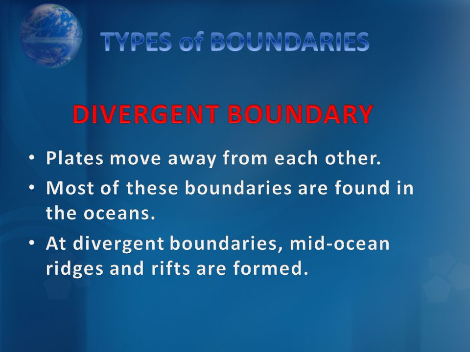 DIVERGENT BOUNDARYDIVERGENT BOUNDARY