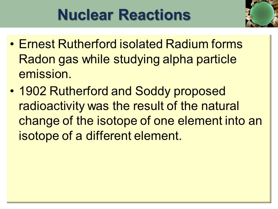Alpha emission Nucleons must be conserved in any nuclear reaction.