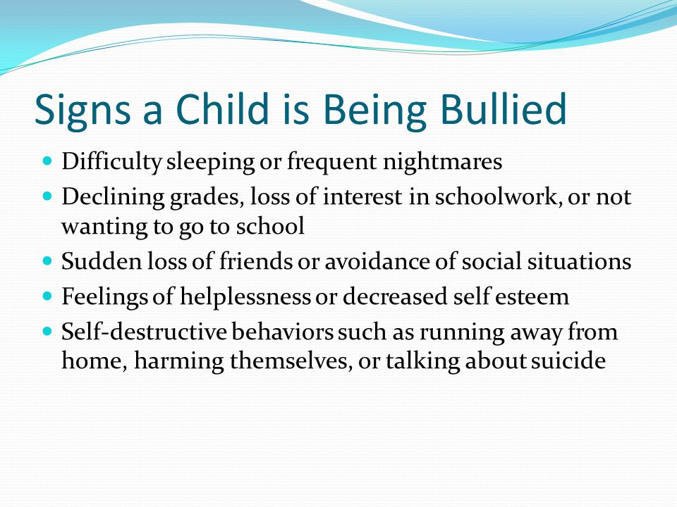 Stop Bullying on the Spot When adults respond quickly and consistently to bullying behavior they send the message that it is not acceptable.