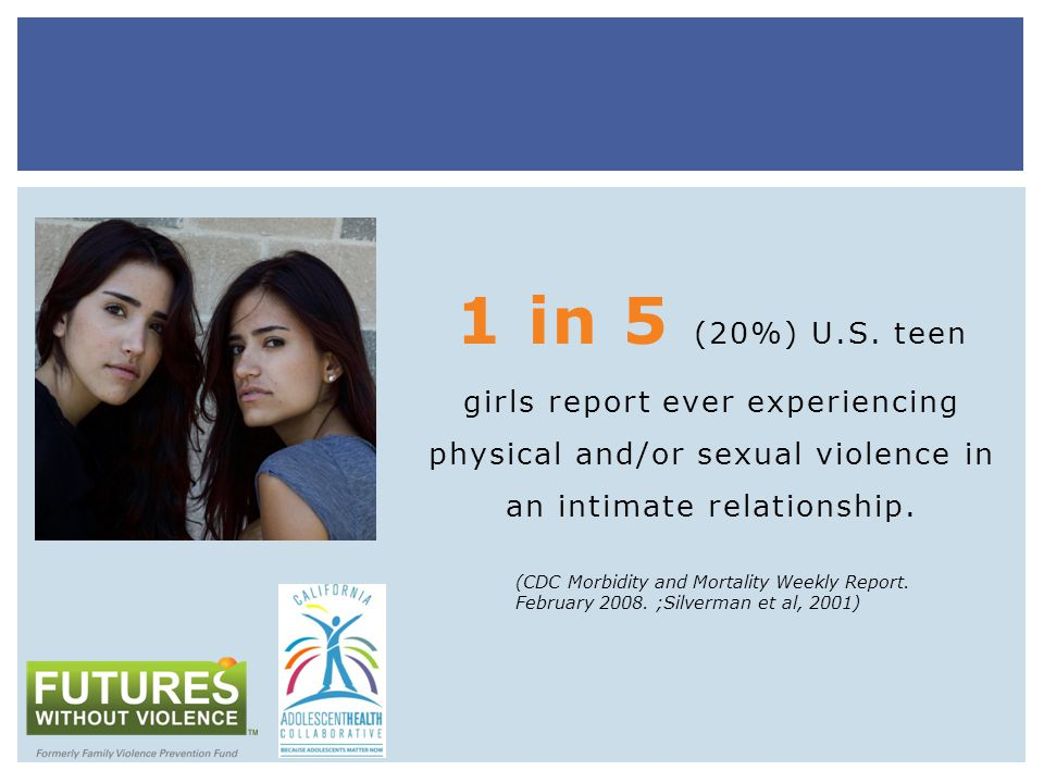 ARA AND TEEN PREGNANCY Adolescent girls in physically abusive relationships were 3.5 times more likely to become pregnant than non-abused girls Pregnant adolescents 2- 3 times more likely to have experienced violence during and after pregnancy than older pregnant women (Roberts et al, 2005)