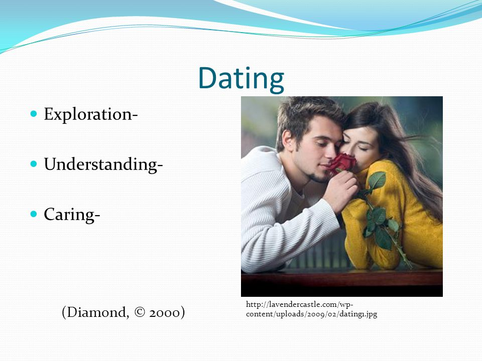 Dating Exploration- Understanding- Caring- http://lavendercastle.com/wp- content/uploads/2009/02/dating1.jpg (Diamond, © 2000)