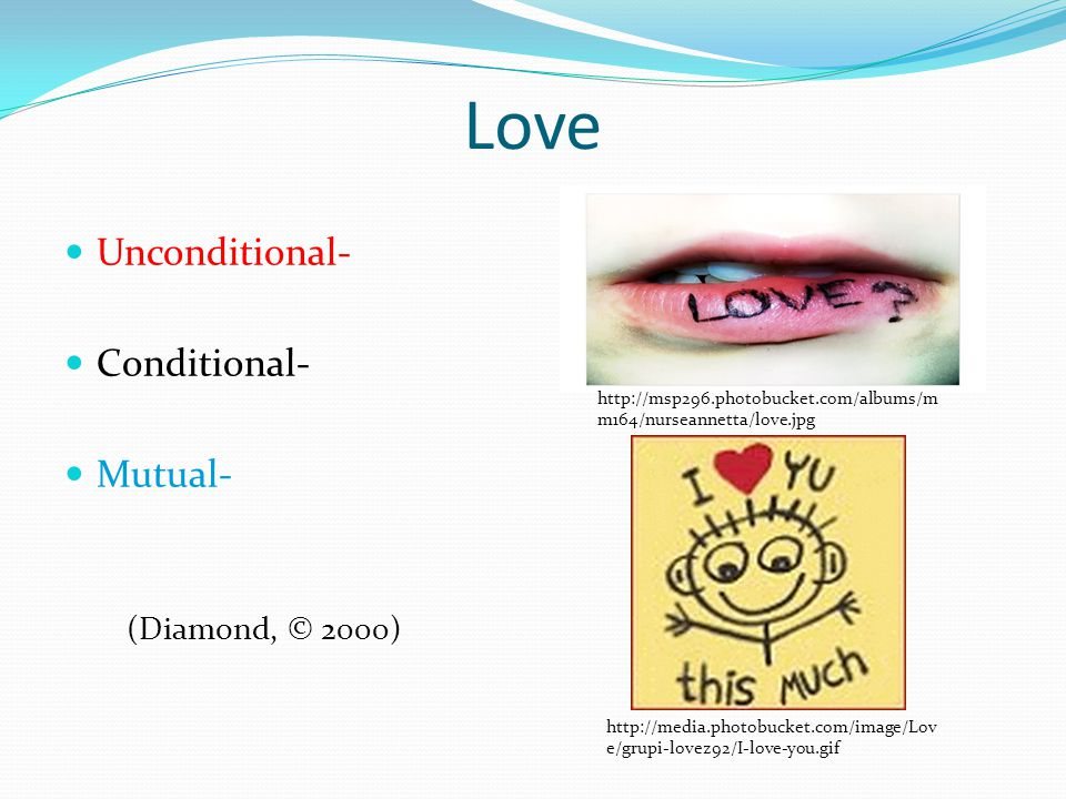 Love Unconditional- Conditional- Mutual- http://msp296.photobucket.com/albums/m m164/nurseannetta/love.jpg http://media.photobucket.com/image/Lov e/gr