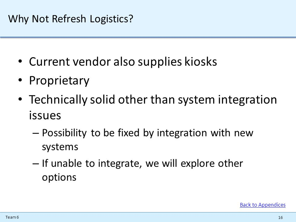 Team 6 Why Not Refresh Logistics.