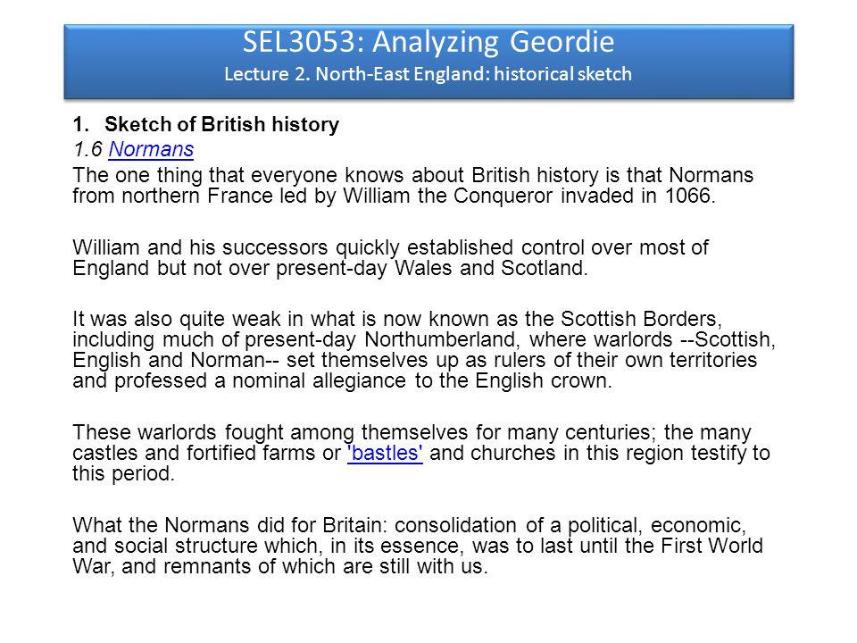 SEL3053: Analyzing Geordie Lecture 2.