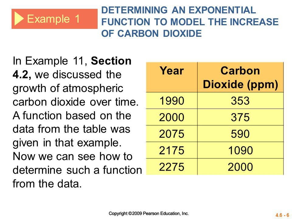 4.6 - 17 Example 3 DETERMINING AN EXPONENTIAL FUNCTION TO MODEL POPULATION GROWTH Solution b.