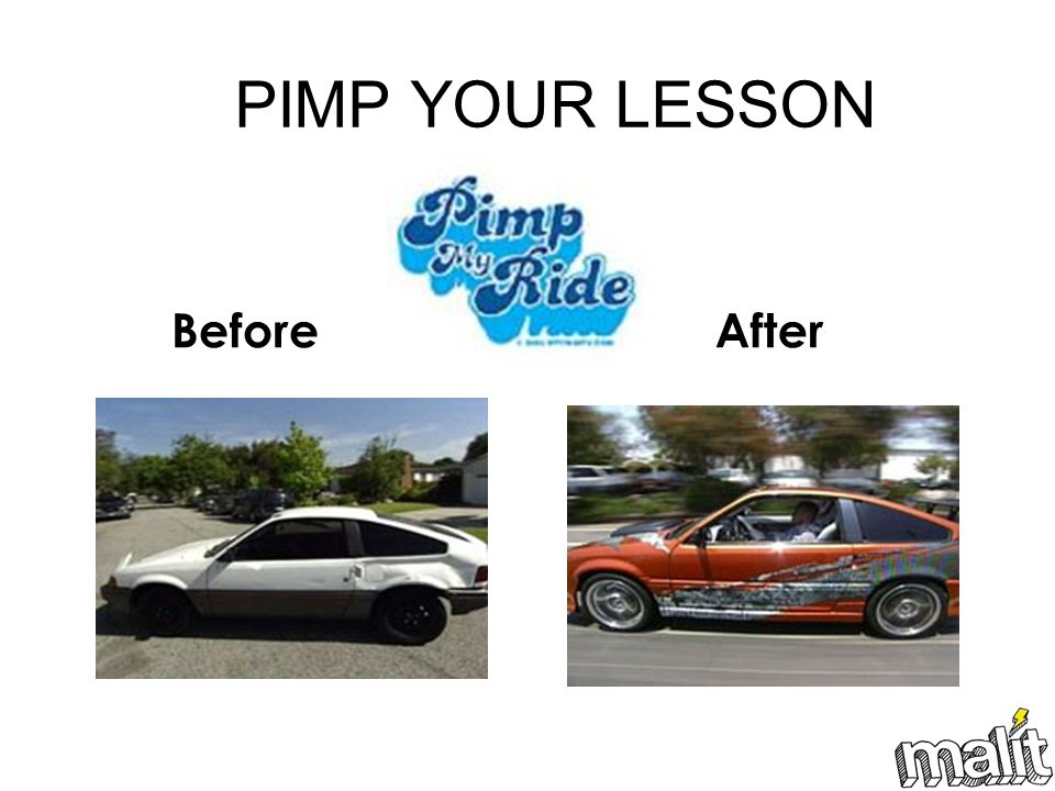 PIMP YOUR LESSON BeforeAfter