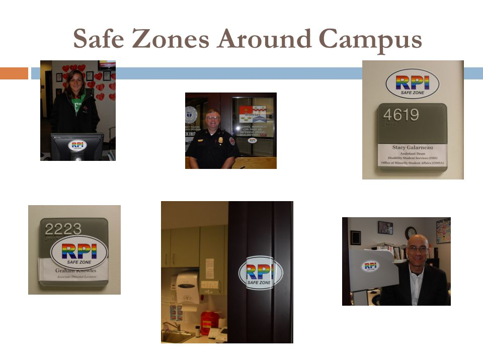 Safe Zones Around Campus
