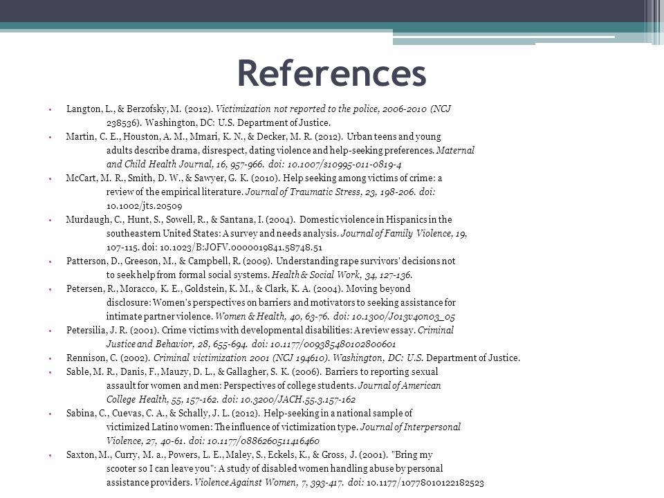 References Langton, L., & Berzofsky, M. (2012).